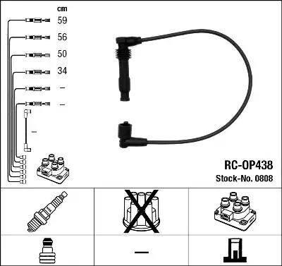 NGK 0808 - Комплект проводов зажигания avtokuzovplus.com.ua