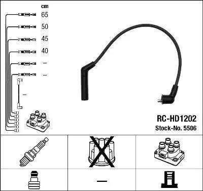 NGK 5506 - Комплект проводов зажигания avtokuzovplus.com.ua