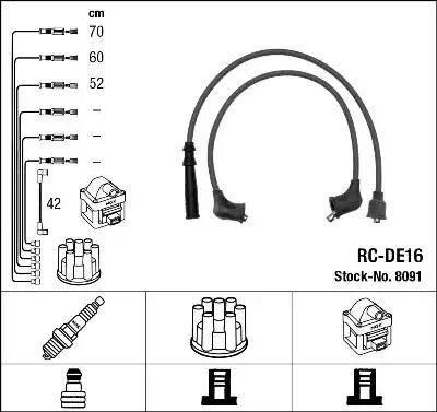 NGK 8091 - Комплект проводов зажигания avtokuzovplus.com.ua