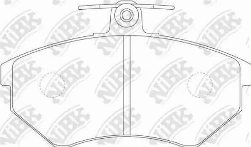 NiBK PN0018 - Тормозные колодки, дисковые car-mod.com