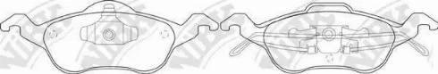 NiBK PN0119 - Тормозные колодки, дисковые car-mod.com
