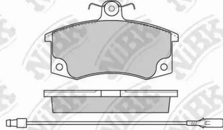 NiBK PN0223W - Комплект тормозных колодок, дисковый тормоз autodnr.net