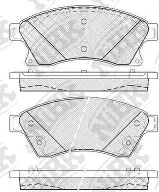 NiBK PN0391 - Тормозные колодки, дисковый тормоз avtokuzovplus.com.ua