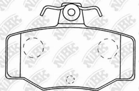 NiBK PN2214 - Комплект тормозных колодок, дисковый тормоз autodnr.net