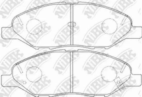 NiBK PN2452 - Комплект тормозных колодок, дисковый тормоз autodnr.net