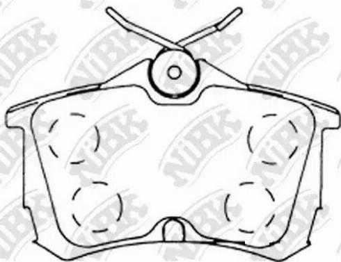 NiBK PN8109 - Тормозные колодки, дисковые car-mod.com