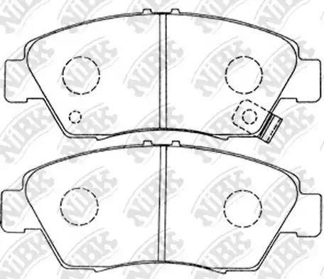 NiBK PN8264 - Тормозные колодки, дисковые car-mod.com