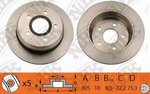 NiBK RN1149 - Тормозной диск autodnr.net