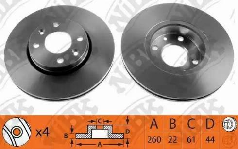 NiBK RN1187 - Тормозной диск autodnr.net