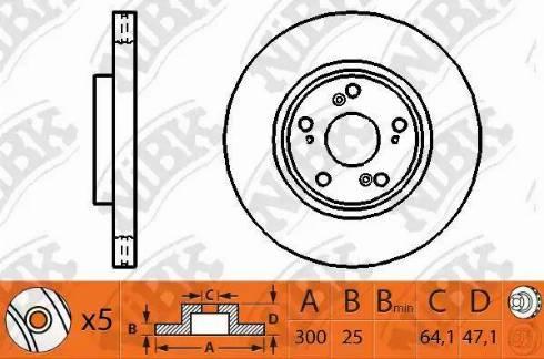 NiBK RN1204 - Тормозной диск autodnr.net