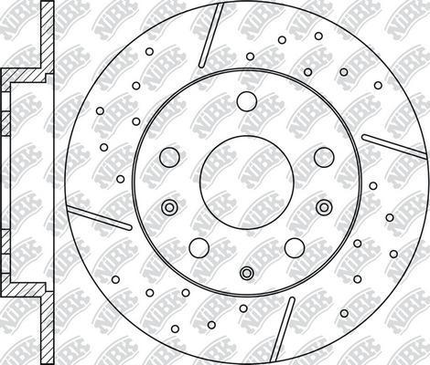 NiBK RN1208DSET - Экономичный тормозной диск avtokuzovplus.com.ua