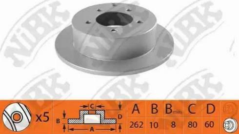 NiBK RN1367 - Тормозной диск autodnr.net