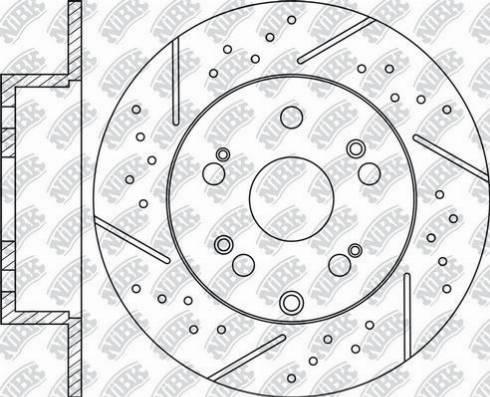 NiBK RN1618DSET - Экономичный тормозной диск car-mod.com