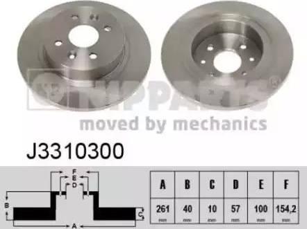 Nipparts J3310300 - Тормозной диск autodnr.net