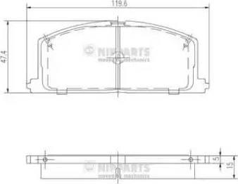 Nipparts J3602035 - Тормозные колодки, дисковые car-mod.com