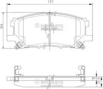 Nipparts J3602125 - Тормозные колодки, дисковые car-mod.com