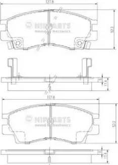 Nipparts J3605029 - Комплект тормозных колодок, дисковый тормоз autodnr.net