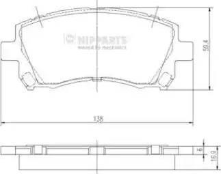 Nipparts J3607013 - Комплект тормозных колодок, дисковый тормоз autodnr.net
