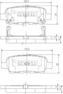 Nipparts J3611044 - Комплект тормозных колодок, дисковый тормоз autodnr.net