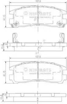 Nipparts J3615003 - Комплект тормозных колодок, дисковый тормоз autodnr.net