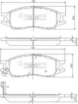 Nipparts N3601097 - Комплект тормозных колодок, дисковый тормоз autodnr.net