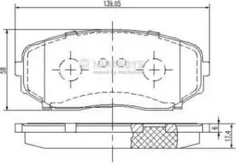 Nipparts N3603070 - Комплект тормозных колодок, дисковый тормоз autodnr.net