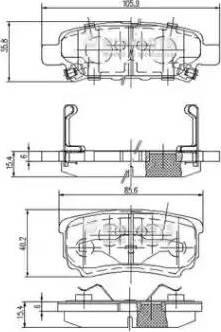 Nipparts N3615015 - Комплект тормозных колодок, дисковый тормоз autodnr.net
