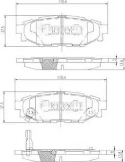 Nipparts N3617004 - Тормозные колодки, дисковые car-mod.com