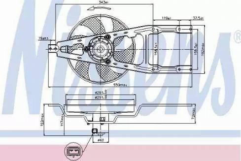 Nissens 85134 - Вентилятор, охлаждение двигателя car-mod.com