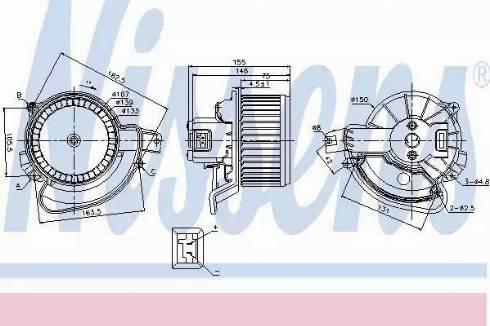 Nissens 87136 - Вентилятор салона car-mod.com