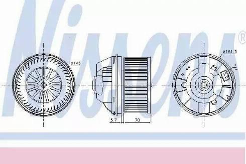 Nissens 87245 - Вентилятор салона car-mod.com