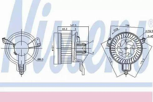 Nissens 87259 - Вентилятор салона car-mod.com