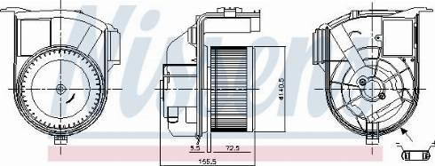 Nissens 87393 - Вентилятор салона car-mod.com