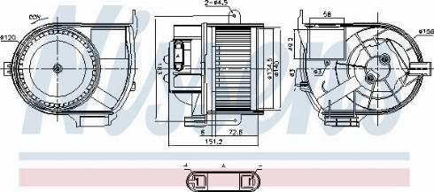Nissens 87487 - Вентилятор салона car-mod.com