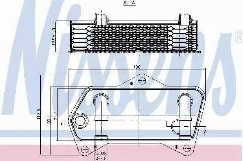 Nissens 90653 - Масляный радиатор, автоматическая коробка передач autodnr.net