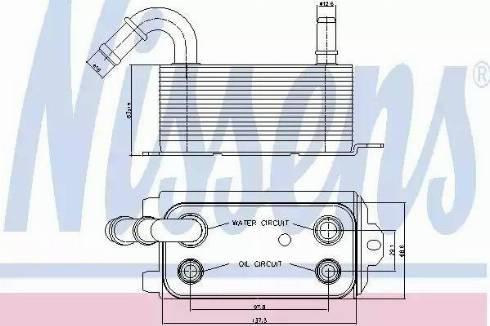 Nissens 90661 - Масляный радиатор, автоматическая коробка передач car-mod.com