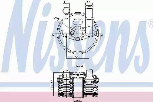 Nissens 90666 - Масляный радиатор, автоматическая коробка передач car-mod.com