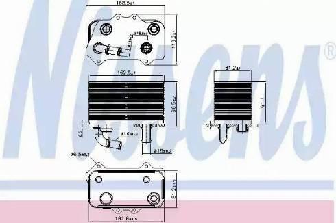 Nissens 90934 - Масляный радиатор, ступенчатая коробка передач car-mod.com