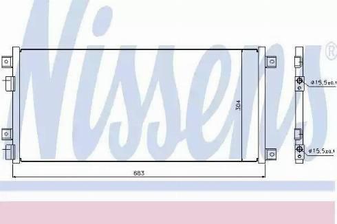 Nissens 940004 - Конденсатор, кондиционер car-mod.com