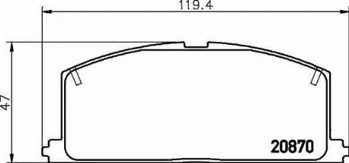 Nisshinbo NP1001 - Тормозные колодки, дисковые car-mod.com