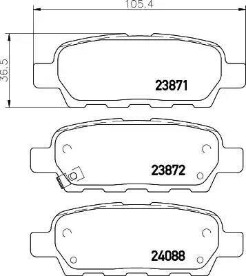 Nisshinbo NP2004 - Комплект тормозных колодок, дисковый тормоз autodnr.net