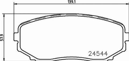 Nisshinbo NP5015 - Комплект тормозных колодок, дисковый тормоз autodnr.net