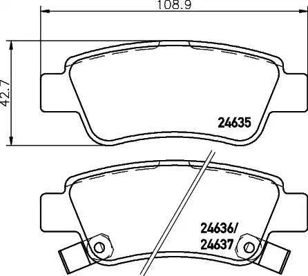 Nisshinbo NP8014 - Комплект тормозных колодок, дисковый тормоз autodnr.net