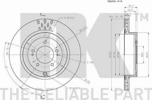 NK 203081 - Тормозной диск autodnr.net