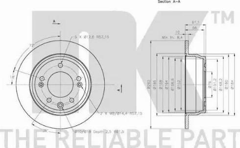 NK 203527 - Тормозной диск autodnr.net