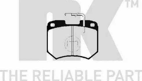 NK 224710 - Комплект тормозных колодок, дисковый тормоз autodnr.net