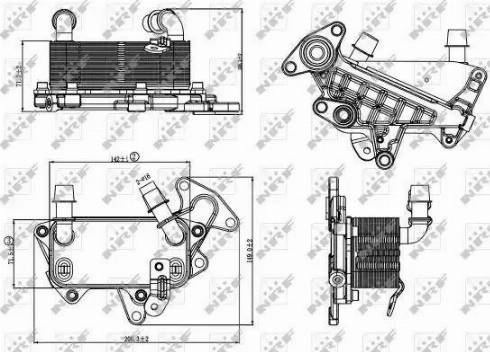 NRF 31264 - Масляный радиатор, автоматическая коробка передач car-mod.com