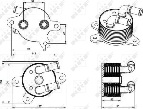 NRF 31750 - Масляный радиатор, автоматическая коробка передач car-mod.com