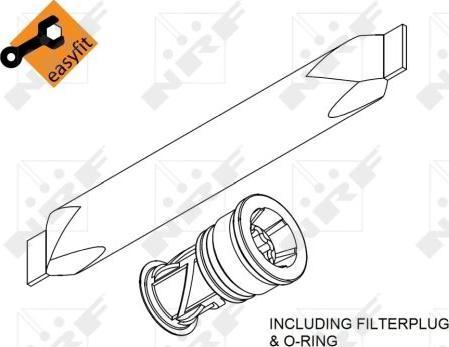 NRF 33370 - Осушитель, кондиционер car-mod.com