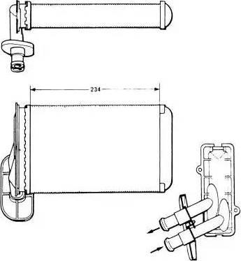 NRF 58622 - Теплообменник, отопление салона autodnr.net